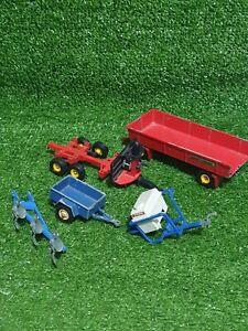 BRITAINS FARM Evrard Sprayer Tank, Wheeled Trailer, Plough & Other Farm Vehicles