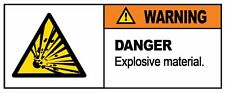 WARNING - EXPLOSIVE MATERIAL  - Self Adhesive Label 100mm x 148mm 4ct