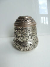 VINTAGE PERSIAN SILVER PLATED HAND HAMMERED DECORATED BOX TEA CAN