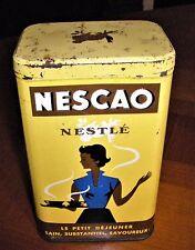 Ancienne boite en Tôle  Lithographiée Nescao Produit Nestlé vintage déco