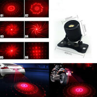 Car Motorcycle Anti-Collision Rear End Tail Fog LED Laser Warning Caution Light