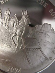 7/8-OZ  SO. UTE TRIBAL AMERICAN NATIVE INDIAN NATIONS ART COIN SILVER.999+GOLD