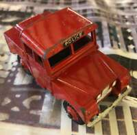 Dinky Toys 255 Red Mersey Tunnel Police Landrover c.1950s excellent condition