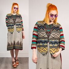 Vintage Aztec Navajo Motif Gilet Veste Polaire Style Hippie Boho Waistcoat 16