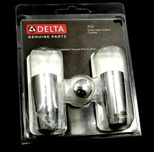 NOS NIP New Delta Genuine Parts A22 Chrome 2-Pack Faucet Handle Accent Peerless