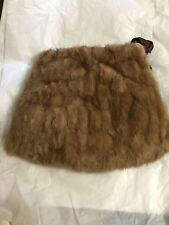 "VINTAGE Mink Fur Muff Hand Warmer w/ Zippered Compartment - 12""L x 14.5""Widest"