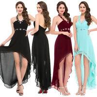High-Low Bridesmaid Chiffon Ball Cocktail Evening Prom Party Dresses Gown Dress