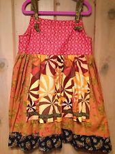 Matilda Jane Platinum Art Fair Dress 6 Girls NWOT Knot Apron Vibrant Colors WOW