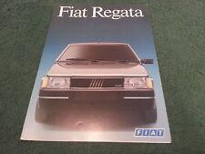 March 1987 Fiat REGATA Saloon - FRENCH FOLDER BROCHURE
