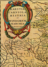 CARTINA STORICA Carinzia Krain Istria Slovenia 1658 regalo di Natale