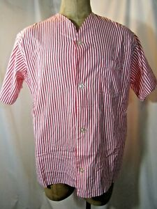 BROOKS BROTHERS Short Sleeve Knee Length Pajama Shirt Size large