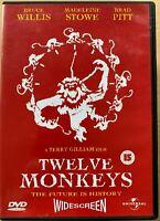 12 Monkeys DVD 1995 Twelve Time Travel Sci-Fi Classic w/ Bruce Willis Brad Pitt