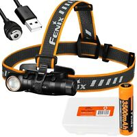 Fenix HM61R 1200 Lumen Rechargeable Headlamp and LumenTac Battery Case