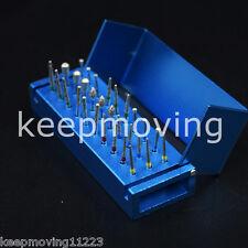 30x Dental Diamond High Speed Handpiece Fg Burs Drill Block Holder Case Rack