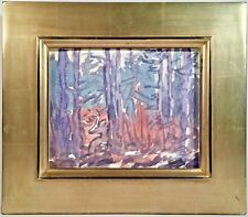 """Listed American Artist Don Wynn (b. 1942) Signed Watercolor """"Deer At Dusk"""" 1994"""