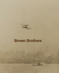 Vintage 1909 NYC Hudson-Fulton Orville Wright Bros Canoe Plane Flight Photo #2