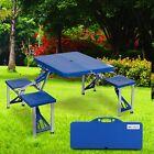Outdoor Portable Folding Garden Camping Picnic Table w/4 Seats Durable