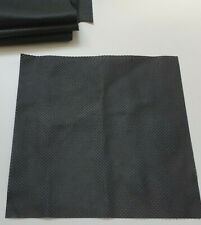 Italy Black Perforated Leather 33cm x 33cm for FURNITURE * CLOTHES or CAR REPAIR