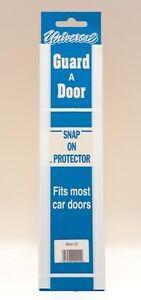 Van Door Boot Edge Guard Protector Universal Pair Snap On White Doorguard Covers