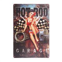 """Hot Rod Garage Metal Tin Sign 8"""" x 12"""""""