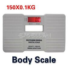 Portable Electronic Digital Bathroom Personal Fat Weight Body Scale 330LB