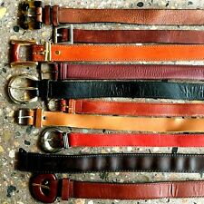 Group J / Lot of 10 Leather Belts / MEDIUM WIDTH / Vintage & Contemporary