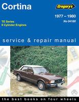 Ford Cortina TE 1977-1980 6cyl Gregory's Repair Manual