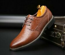 Men's Business Dress Shoes Retro Leather Rubber Pointed Toe Oxford Shoe Footwear