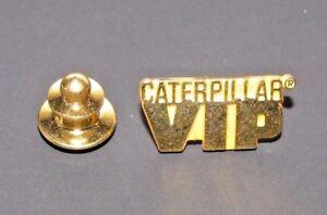 *Caterpillar CAT VIP Brass Lapel or Hat Pin Tie Tac Construction Equip Peoria IL