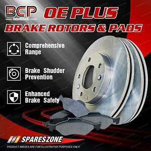 BCP Front Brake Pads + Disc Brake Rotors for Nissan Tiida C11X SC11X 1.8L 144mm