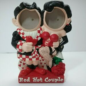 Red Hot Love Double Frame 2 x 2 inches  photos  3D Red Hot Couple