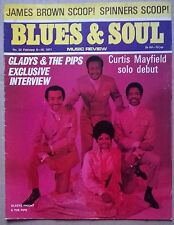 JAMES BROWN in BLUES & SOUL Mag.No 52.Feb'71.+C.MAYFIELD+SPINNERS+RUFUS THOMAS++