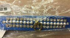 Mirage Pet Products Mini Pearl Pet Collar Size 12 Blue