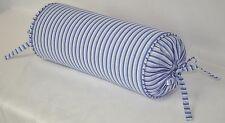 Pillow made w Ralph Lauren Putney Blue Stripe Cotton Fabric N trim self cording