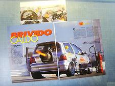 AUTO998-RITAGLIO/CLIPPING/NEWS-1998-RENAULT DRAGOTTO TWINGO JET - 3 fogli