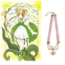 Anime Cardcaptor Sakura Kinomoto Wings Star Necklace Lolita Girls Pink Choker