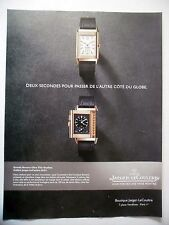 PUBLICITE-ADVERTISING :  JAEGER LeCOULTRE Grande Reverso Ultra Thin Duoface 2014