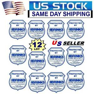 12 WATERPROOF BRINKS ADT HOME SECURITY ALARM SYSTEM WARNING STICKER DECAL SIGNS
