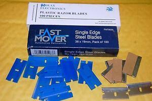 100x single sided razor blade and 100x plastic razor blade