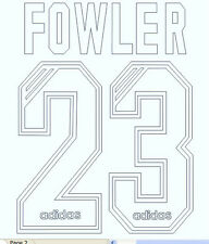Fowler 23 Liverpool 1995-1996 Football Name set for Shirt