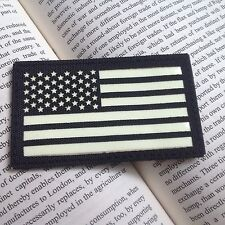 BLACK LEFT IR US FLAG Reflect Tactical Army AIRSOFT PATCH/GLOW IN DARK