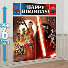 STAR WARS EPISODE 7 Wall Decorating Kit Scene Setter Party Decorations Birthday