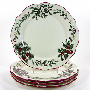"NEW Better Homes & Gardens WINTER FOREST GREENS 11.25"" Dinner Plate Set Heritage"