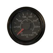 "Temp Gauge, 2""/52mm, programmable, 100-240F, black/black, white LED, 001-T-BB"