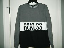 Young & Reckless Gray & Black Sweatshirt Size Large *Runs Like a Medium*