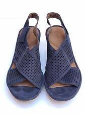 Previously owned (barely) Clarks Womens Clarene Award Wedge in Navy – Sz 10