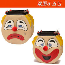 New personality fashion handmade double side clown cry/smile shoulder bag