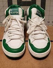 Retro Converse Weapon Green & White Men's Shoes sz. 6