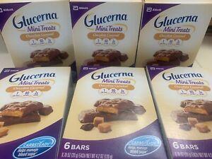 GLUCERNA NUTRITION MINI SNACK BARS: CHOCOLATE CARAMEL 6 BOXES TOTAL 36 4/1/20