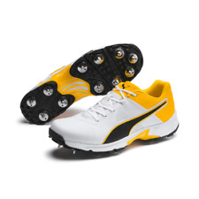 2020 Puma Spike 19.1 White Orange Cricket Shoes Size UK 8, 9, 10